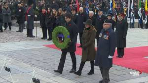 Remembrance Day: Trudeau, Payette among those to lay wreaths at National War Memorial
