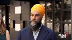 Jagmeet Singh thinks next federal election should be 2 years away given COVID-19 concerns (00:47)