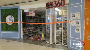 Hong Kong protesters vandalize stores in Sha Tin