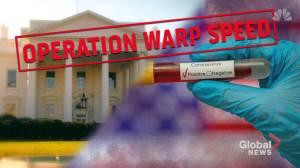 Coronavirus outbreak: 'Operation Warp Speed' in U.S. seeks vaccine by January 2021