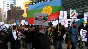 Iranian-Canadians take to Montreal streets for peace rally