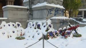 Toronto's Old City Hall Cenotaph vandalized
