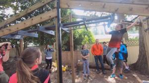 'This Is B.C.': Langley backyard converted by ninja warriors (02:11)