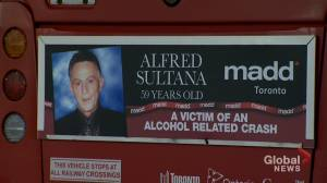 Photos on TTC buses pay tribute to impaired driving victims (02:03)