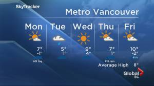 B.C. evening weather forecast: March 8