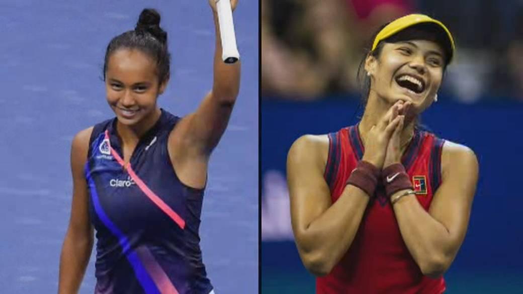Click to play video: 'Canadian Leylah Fernandez takes on Emma Raducanu in U.S. Open Final'