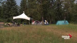 City of Edmonton, police keep close eye on new Indigenous Art Park encampment (01:57)