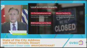 "Vancouver Mayor Kennedy Stewart delivers ""state of the city"" address (00:39)"