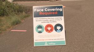 First day of mandatory mask use at city-owned facilities in Lethbridge