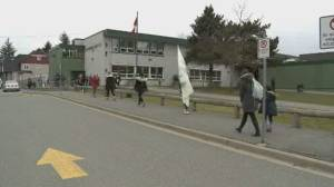 Surrey teachers walk off job over lack of COVID-19 safety measures in classrooms (00:47)