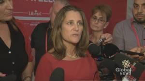 Federal Election 2019: Chrystia Freeland says CUSMA negotiations were 'existential threat' to Canada