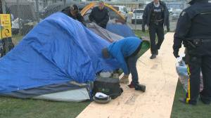 First night over at new designated overnight homeless areas