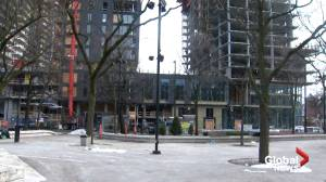 Homeless advocates perplexed by decision to install skating rink in Cabot Square (02:06)