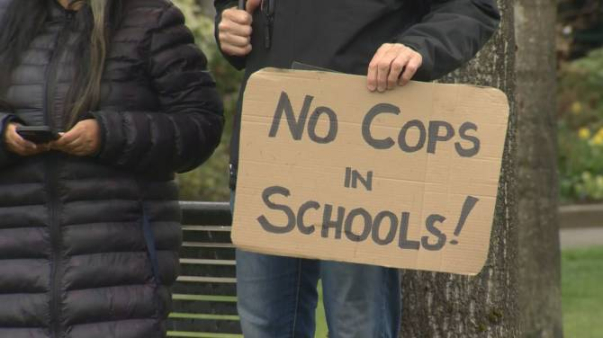 Click to play video: Vancouver School Board voting on police officers in schools