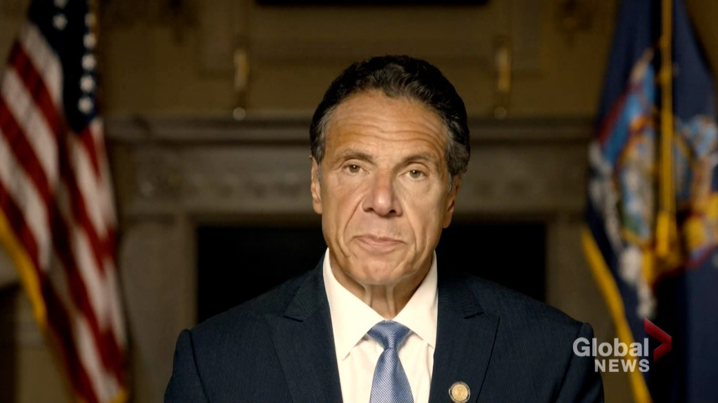 Click to play video: 'NY Gov. Cuomo denies sexual misconduct findings in AG probe'