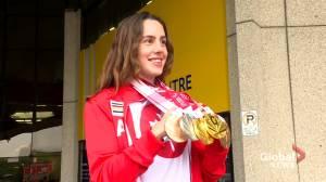Paralympic champion Aurélie Rivard returns from Tokyo games (02:12)