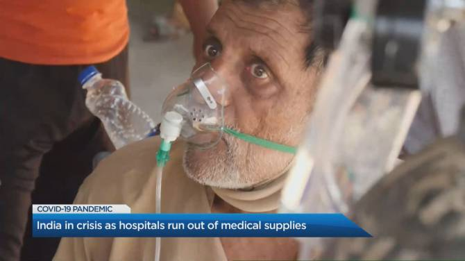Click to play video: India surpasses 320k COVID cases as some people die waiting for help in overwhelmed hospitals