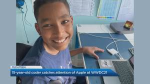 Toronto teen coder with cerebral palsy catches attention of Apple CEO (02:31)