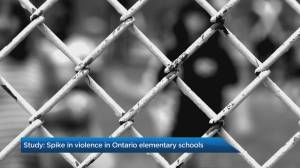 Spike in violence in Ontario elementary schools: study