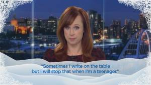 Global News reads your kids' letters to Santa