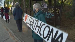 Strathcona residents demand government action on homelessness