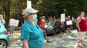 Parents, educators rally in Halifax seeking clarity on government's back-to-school plan (01:57)