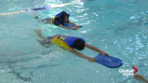 The push to reopen pools after a year of missed swimming lessons (01:36)