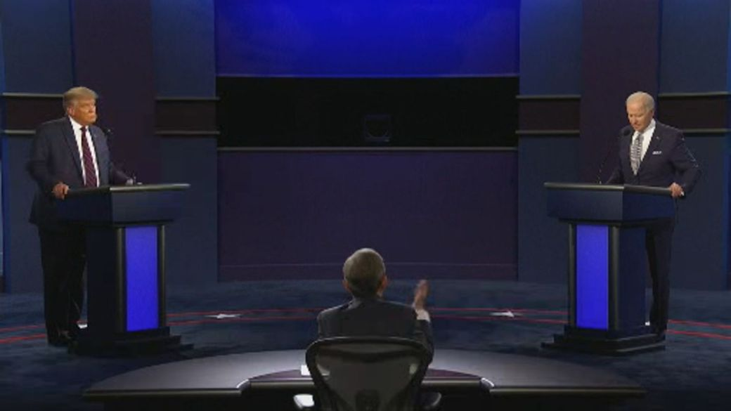 Click to play video 'US Presidential debate: Trump pushes Biden on his son Hunter and dealings with Burisma'