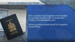 Where Canadians can travel right now?