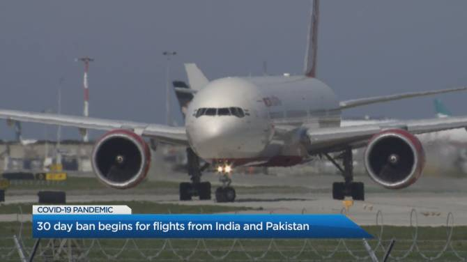Click to play video: COVID-19: All direct passenger flights from India, Pakistan banned from entering Canada