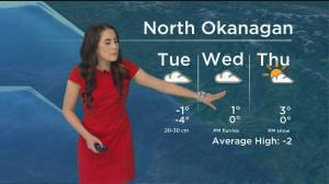 Kelowna Weather Forecast: December 30