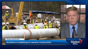 Trans Mountain pipeline construction back on course