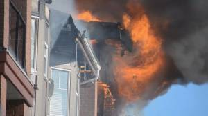 Massive fire at Langley City condo leaves dozens homeless