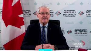 Canadian foreign affairs minister says coalition denouncing arbitrary detentions not just aimed at China (01:26)