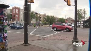 2 more pedestrian scramble crosswalks being added on Whyte Avenue (01:52)