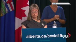 Hinshaw says Alberta's 'Open For Summer' plan was premature, led to spike in COVID-19 cases (01:46)