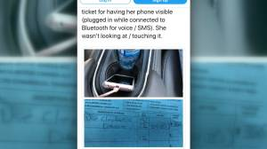 BC senior gets slapped with a distracted driving charge