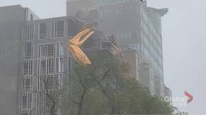 Downed Halifax crane malfunctioned months before storm: documents (01:52)