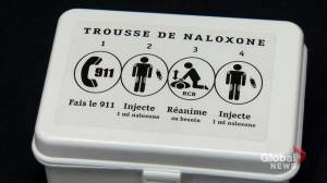 Montreal police officers now trained and equipped with naloxone (02:04)