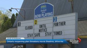 Ontario's 3-step reopening plan threatens future of movie and drive-in theatres (02:10)