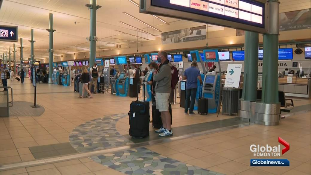 Click to play video: 'International flights returning to Edmonton airport'