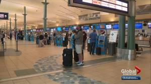 International flights returning to Edmonton airport (01:51)
