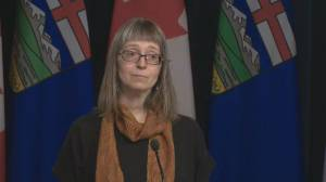 Coronavirus: Alberta asks anyone over 65, those with chronic health conditions not to travel outside Canada (00:25)
