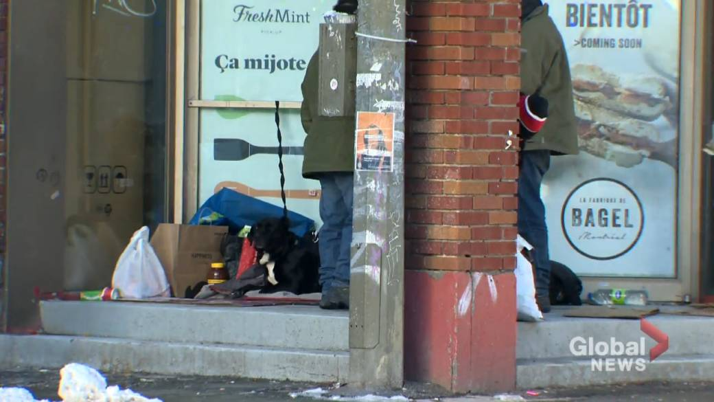 Click to play video 'Coronavirus: More calls for Quebec to exempt homeless from curfew'