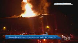 Dozens displaced after fire damages apartment building in Dieppe, N.B. (02:15)