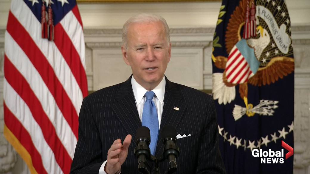Click to play video 'COVID-19 vaccine will be available to all American adults by end of May: Biden'