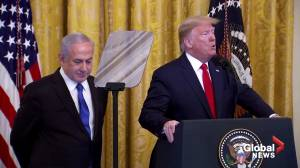 Trump claims Israel taking 'giant step' toward peace in new plan (01:08)