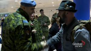 Royal Canadian Air Force troops return home for holidays