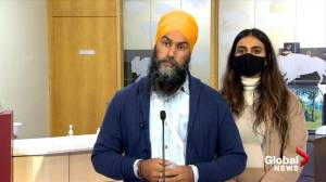 Canada election: Singh says he would appoint special prosecutor to get justice for unmarked graves at former residential schools (01:35)
