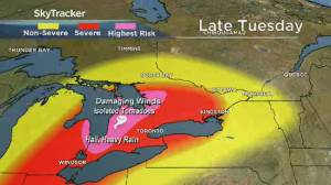 Tornado watch issued for parts of southern Ontario (02:14)